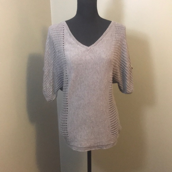 Mossimo Supply Co. Sweaters - Mossimo Gray Thin Half Sleeve Open Knit Sweater